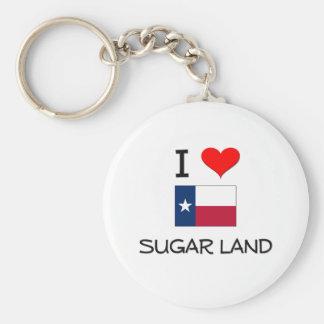 I Love Sugar Land Texas Basic Round Button Key Ring
