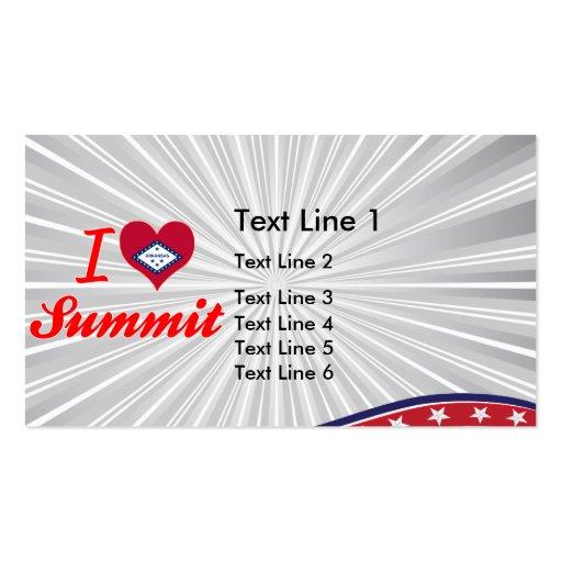 I Love Summit, Arkansas Business Cards