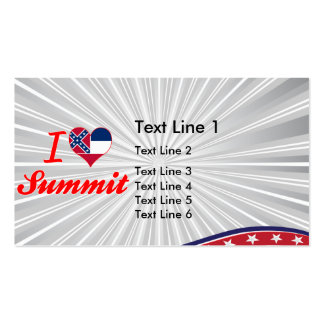 I Love Summit Mississippi Business Card Template