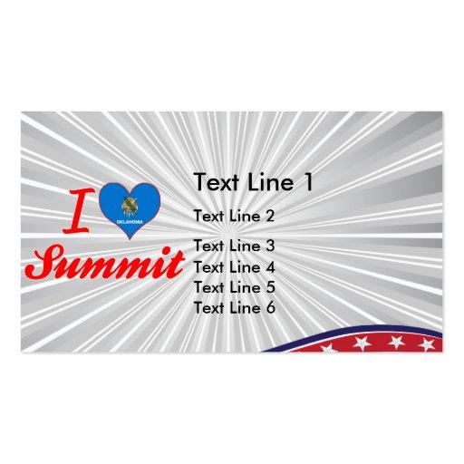 I Love Summit, Oklahoma Business Card Templates