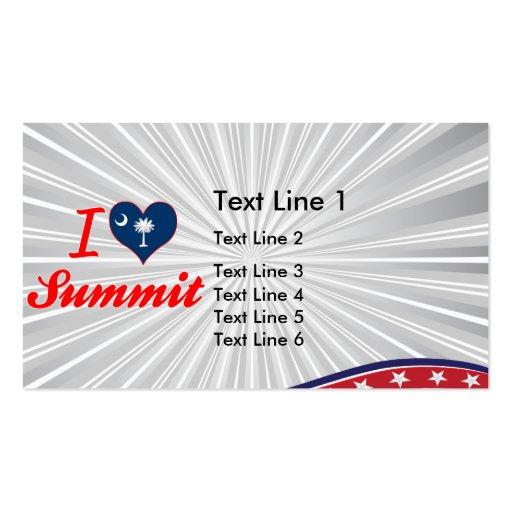 I Love Summit, South Carolina Business Card Templates