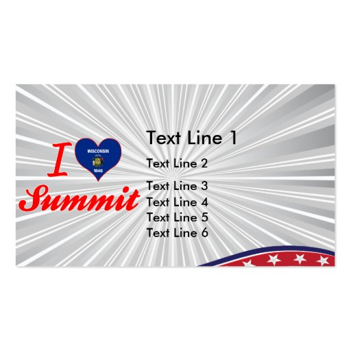 I Love Summit, Wisconsin Business Card Template