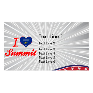 I Love Summit Wisconsin Business Card Template