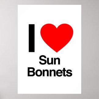 i love sun bonnets print