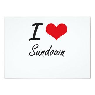 I love Sundown 13 Cm X 18 Cm Invitation Card