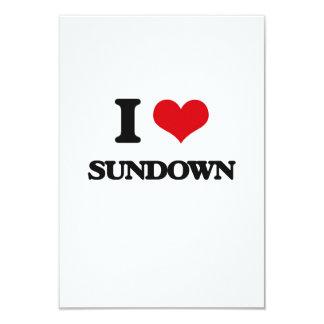 I love Sundown 9 Cm X 13 Cm Invitation Card