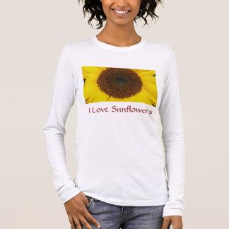 I Love Sunflower Long Sleeve T-Shirt