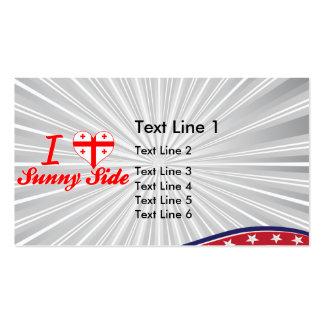 I Love Sunny Side, Georgia Business Card Template