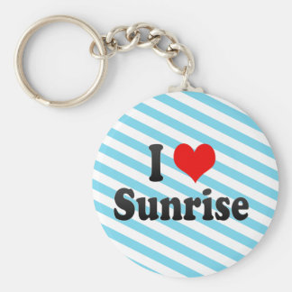I Love Sunrise, United States Basic Round Button Key Ring