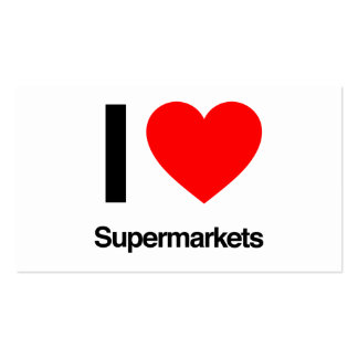 i love supermarkets Double-Sided standard business cards (Pack of 100)