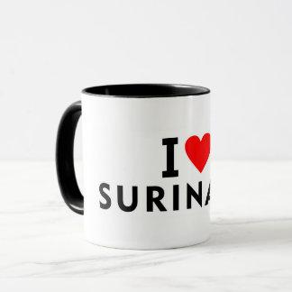 I love Suriname country like heart travel tourism Mug