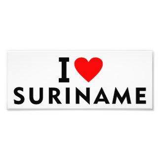 I love Suriname country like heart travel tourism Photo Print