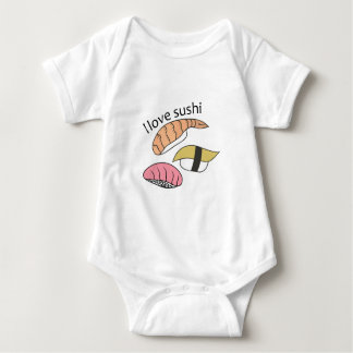 I Love Sushi Baby Bodysuit