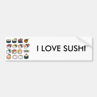 I Love Sushi Bumper Sticker