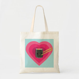 I Love Sushi Kawaii Sushi Roll Tote Bags