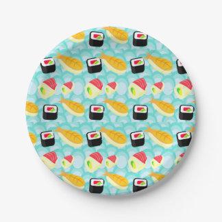 I love Sushi Paper Plate 7 Inch Paper Plate