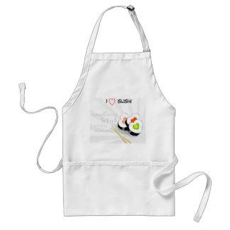 I love sushi standard apron