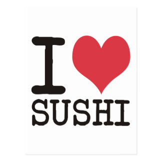I Love Sushi - Wine - Tea Products & Designs! Postcard