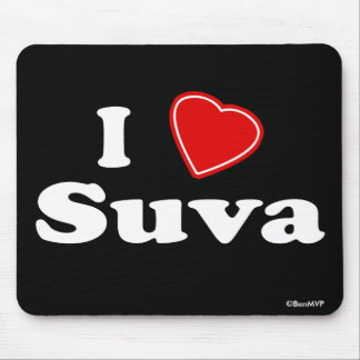 I Love Suva Mouse Pads