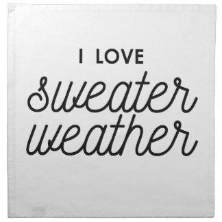 I Love Sweater Weather Napkin