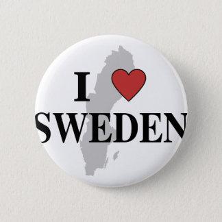 I Love Sweden 6 Cm Round Badge