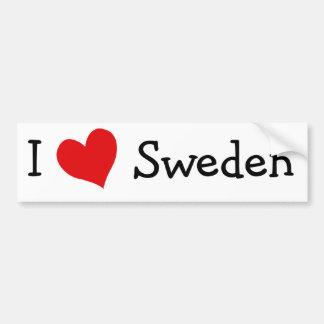 I Love Sweden Bumper Sticker