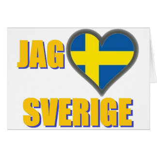 I Love Sweden (Jag Älskar Sverige) Card