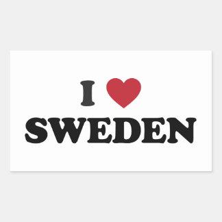 I Love Sweden Rectangular Sticker