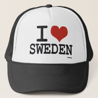 I love Sweden Trucker Hat