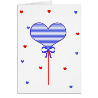 I love sweet march with many candy  hearts card