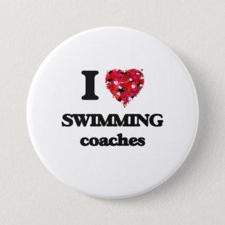 I love Swimming Coaches 7.5 Cm Round Badge