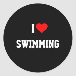 I LOVE SWIMMING Sticker
