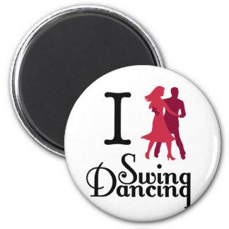 I Love Swing Dancing 6 Cm Round Magnet