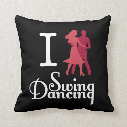 I Love Swing Dancing Throw Pillows