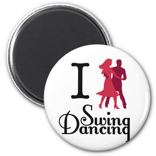 I Love Swing Dancing Refrigerator Magnet