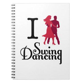 I Love Swing Dancing Note Book