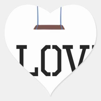 I Love Swings Heart Sticker