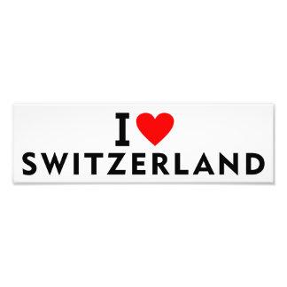 I love Switzerland country like heart travel touri Photo Print