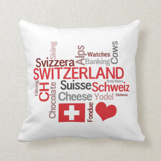 I Love Switzerland Funny Swiss Cliches Cushion