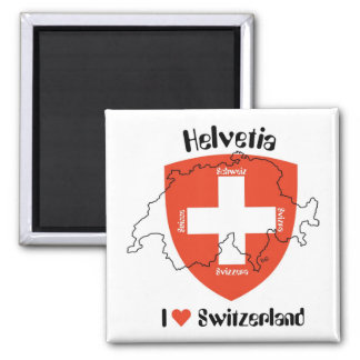 I love Switzerland magnet