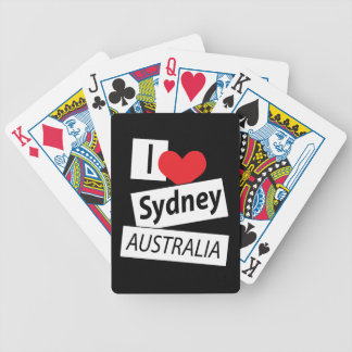 I Love Sydney Australia Bicycle Playing Cards