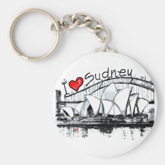 I love Sydney Basic Round Button Key Ring