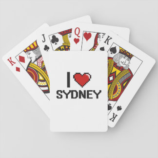I Love Sydney Digital Retro Design Deck Of Cards