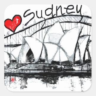 I love Sydney Square Sticker