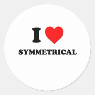 I love Symmetrical Stickers