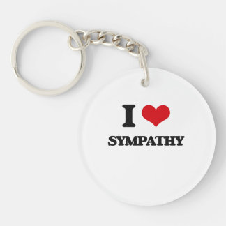 I love Sympathy Single-Sided Round Acrylic Keychain