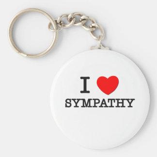 I Love Sympathy Basic Round Button Key Ring