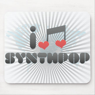 I Love Synthpop Mouse Pad