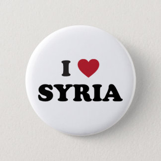 I Love Syria 6 Cm Round Badge