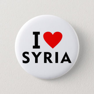 I love Syria country like heart travel tourism 6 Cm Round Badge